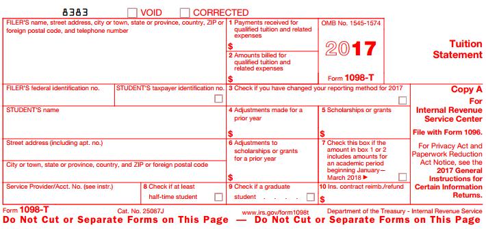 form 1098 t instructions