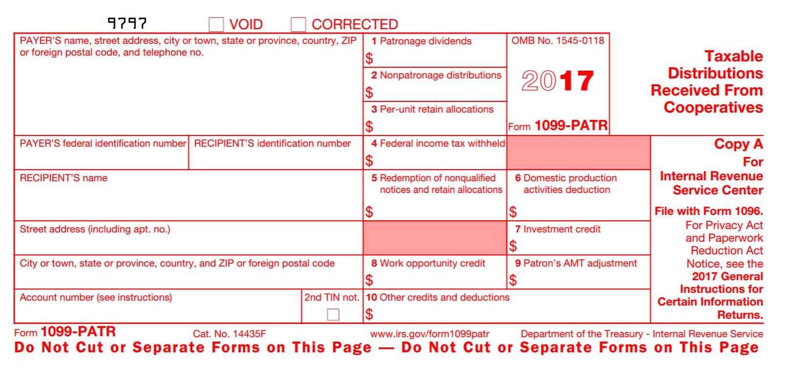 1099 Patr Form