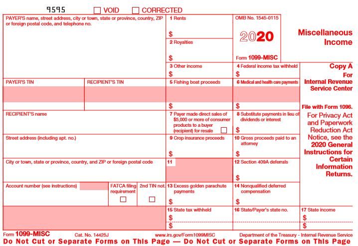 1099-MISC 2020 - Public Documents - 1099 Pro Wiki